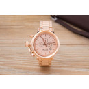 Wristwatch with Date, Gold Pink Gold