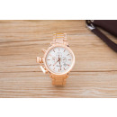 Wristwatch with  Date, Pink Gold White