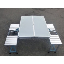 Folding camping  table with 2 benches aluminum
