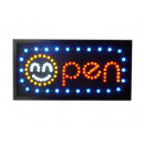 Advertising sign  with LED (OPEN + Smiley)