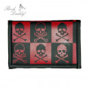 Wallet with Chain  in diamonds black / red with dea