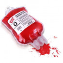 Blood shower gel in the blood bag