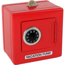 Money Box Metal Safe 'Red'