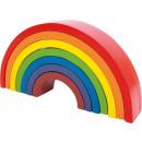 Holzpuzzle Motorik Regenbogen