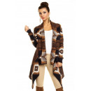 Cardigan Luzabelle 3355 dark blue-brown