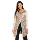 Poncho  Strickmantel Yida  5055 light ...