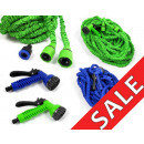 Garden hose with a nozzle 15m