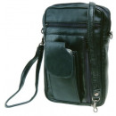 Mr. STEFANO  leather bag with front pocket