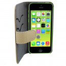 Case Leather2  Apple iPhone 5C Classic Grey