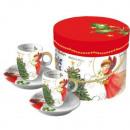 Espresso in Box  Christmas Eve porcelain