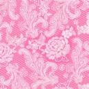 Serviette Royal pink white 33x 33cm
