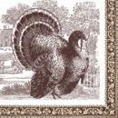 Serviette Turkey 33x 33cm