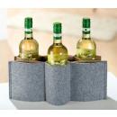 Felt Weinflaschenh.40x16c m beige gray