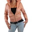 hurtownia Plaszcze & Kurtki: Faux Leather  Jacket Kurtka  damska skórzana ...