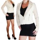 hurtownia Plaszcze & Kurtki: Faux Leather  Jacket Kurtka damska Skóra Faux