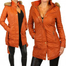Coat ladies faux  leather jacket trench coat leathe