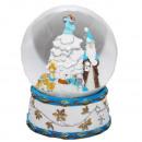 B-Ware Schneekugel Santa Baum blau 150mm