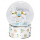 Remnants Snowglobe  Rocking Horse blue bubble