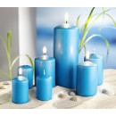 Kerzen, 7tlg., (Farbe: blau)