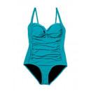 Belvia Slim Swim  swimsuit, turquoise (Size: XL)