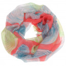 Loop snood scarf  kringle  coral