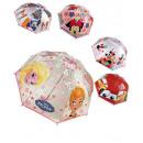 Parapluie transparent 90cm 5 fois Frozen & Co.