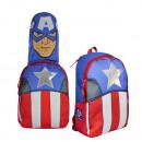 Rucksack mit  Kapuze 37cm Marvel Captain America