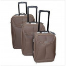 Set mit 3  Rollkoffer Paris  Bronze