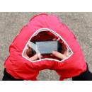 Handschuh mit  einem Fenster auf Ihrem Smartphone