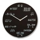 Horloge  mathématiques noir classique