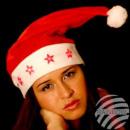 Weihnachtsmützen  Nikolausmützen rot 5 LED Leuchtst