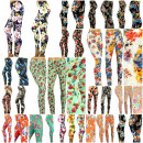 Leggings WOMEN - FLOWERS - BAMBOO !!