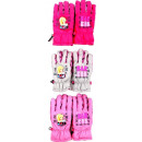 Barbie  children's ski gloves