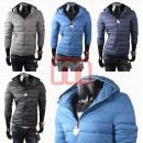 hurtownia Plaszcze & Kurtki: Mężczyźni pikowane  kurtki zimowe z kapturem gr. M-