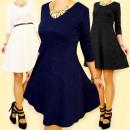 3711 Ausgestelltes Kleid, 3D-Effekt MIX