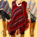3634 patroon  poncho, cape, OVERSIZE