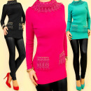 3708 LOVELY TUNIC,  Pullover, GOLD Jets MIX