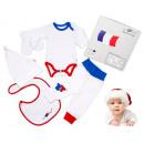Layette Cadeau  Bébé drapeau français