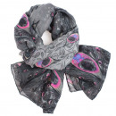 Ladies scarf shawl SCARF 9D0165, gray 2