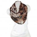 Ladies Loop scarf  good quality cloth 150929 Brown