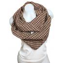 Ladies Loop scarf  scarf good quality 9D0225 Brown