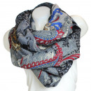 Ladies Loop scarf  scarf good quality 9D0188 Grey