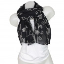 Ladies Loop scarf  scarf good quality Black 150898