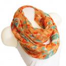 Női hurok sál  kendő jó minőségű SJL14-9 Orange