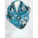 Ladies Loop scarf  good quality cloth 150557 Turquo