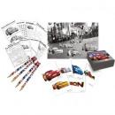 nagyker Társasjátékok: Cars Neon -  Activity készlet  (4 ceruza, 4 ...