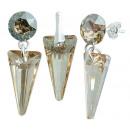 Silber mit  Swarovski Xirius Spike Golden Set