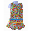 Multicolored dress for babies