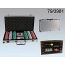 nagyker Társasjátékok: Póker szett  alumínium esetében 5 dobókocka,