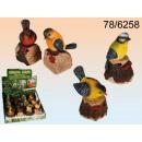 Bewegungsmelder,  Polyresin-Vogel mit Tierstimme